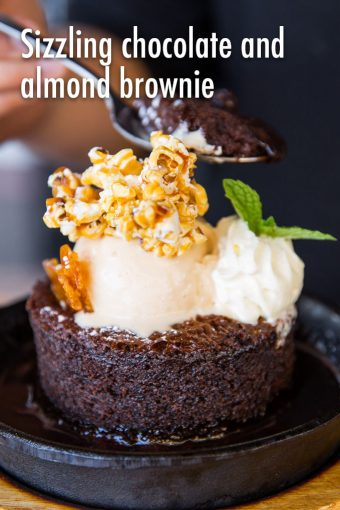 southsidebistro Recommendation Sizzling Chocolate and Almond Brownie 340x510 - Southside Bistro