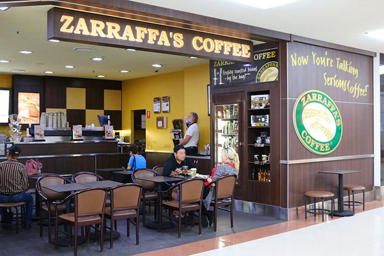 Zarraffa's Coffee shopfront - Zarraffa's Coffee