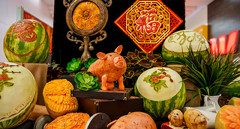 food carving - Lunar New Year Events Program 22-26 January, 2020